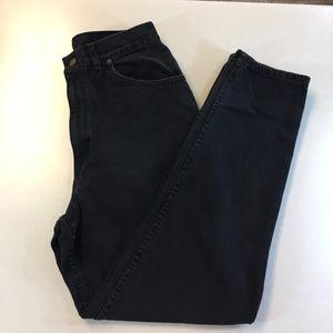 Vintage Chic Super High Waisted Mom Black Jean